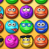 Smiley Puzzle 2 - The sequel to the frantic matching game with the funny smileys! Slide the smileys to connect 3 or more to match them. Match the top smiley of the queue to increase your multiplier and progress through the level. Remember to break locks and collect time bonuses, because time is not on your side!