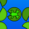 Acrofrog - Play, make, and share puzzles! Play as a frog and remove lily pads.