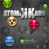 AtomikKaos - Manipulate chaotic atoms on a chain reaction frenzy in this fun puzzle game and help to solve many of the world's biggest problems such as the panda shortage and bad breath caused by beer!
