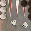 Backgammon Multiplayer - Backgammon is a board game for two players in which the playing pieces are moved according to the roll of dice. A player wins by removing all of his checkers from the board.