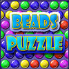 Beads Puzzle - Choose one of three skill levels and start to play. Aim with the mouse and shoot at the falling balls. Three or more balls of the same color disappear. The higher skill level you play the more points you get for each deleted match.