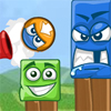 Big Blocks Battle - Big block's battle is a physics action game. You need to achive target score to win by shooting away the blue blocks. Don't shoot down the green blocks. You will lose the points!