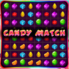 Candy Match - Candy Match is a match-puzzle game. Make a row or column of three or more candy of the same type to make them disappear. Break all the candy in time to complete the level.