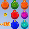 Christmas Balls - In the game there are a grid of Christmas ornaments, you have to match the Christmas ornaments by swapping them. The Christmas ornaments will be matched if a line of 3 or more Christmas ornaments of the same kind are there. When some Christmas ornaments are matched, new Christmas ornaments will be created to take their place. You need to match Christmas ornaments as quickly as possible in order to advance to the next level.