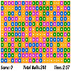 Collapse 240 - Click on the 240 balls displayed on the screen to clear the field. You can only click on balls that are connected to other the same color balls. If you click on balls that are not connected you'll lose points. Big groups of balls brings more points than smaller groups.