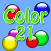 Color 21 - The goal of Color 21 is to drop the colored orbs into columns to create sums of 21.