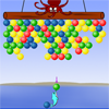 Dolphin Ball - Help the dolphin clear all the balls before the octopus reach the island. You can clear the balls by shooting them into groups of 3 or more of the same color. Any balls that are hanging on to what you cleared will also fall.