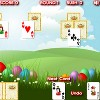 Easter Bunny Solitaire - Easter Bunny Solitaire is an on-line card game by flashgames.de. Click on the next card on the screen, that is higher or lower in sequence than the card at the bottom. If you want, you can use the joker at any time. Try to win as many rounds as possible to score high.
