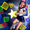 Eva Star - Eva is a cute manga girl, and she will play with you in this broad game.Just reach her target score for each level , your score carries over from one level to the next.