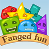 Fanged Fun - Funny physics-based puzzle game.  Your goal is to help green and red faces get to their corresponding platforms. A Box can transform into a ball, a ball can transform into a box.