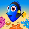 Fish! Let's Jump - A puzzle game about jumping fish. The goal is to clear the board of fish