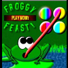 Froggy Feast - Froggy Feast is a unique match puzzle game that lets you perform a multitude of combinations to earn points. Click two-colored orbs to change their color and create matches from 3 orbs up to 9! See how many different matches you can create!