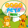 Gogo Pets Puzzle - A funny pet-related card matching game where you have to match up 2 cards to score points and keep the pet alive. Gain quest items , and special pet-collection cards by solving the levels. Read the ingame instructions for more details about this small and cute family puzzle game.