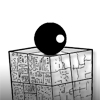 Gravity Master - Game goal is to collect all rotating circles with the black ball. You can move the ball by drawing shapes with mouse. Doubleclick on your shape to destroy it.
