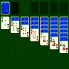 Klondike - Klondike is a well known card game sometimes known simply as Solitaire.  Cards must all be moved to foundations in suit order, and can be stacked in the tableau in red-black descending sequence.
