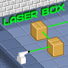 LaserBox - Laserbox is a challenging strategy. Fire a laser through the box to locate all the mirrors without breaking them. Uncover sections of the box that do not contain a mirror , but be careful! If you clear a section that contains a mirror, it will break!