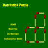 Matchstick Puzzle - Take away a specific number of matches to form a specified number of squares. All the squares are counted and each match must be a part of a square. Click on match to remove it. Be careful, you cannot undo your moves.