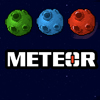 METEOR - METEOR. Puzzle. Destroy all the meteor with bomb chain after reach the danger zone