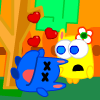 Monster in Love - Help these monsters meet up with their true loves by collecting the same colored hearts! Be careful not to catch the wrong color!