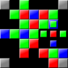 Montage - A puzzle game in which you must drop pieces into an arena attempting to match colours.  Pieces can overlap existing squares provided the colours match, and any square overlapped by or adjacent to a square of the same colour is removed.
