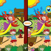 Pirates and Princesses - Spot the differences. Two pictures look alike. But aren't. Point out the differences using your pencil. Game for children age 3 to 7. Easy to use. Well drawn.
