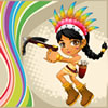 Poca's Adventure - Pocahontas and her adventure. Enclose all the non-empty areas in a level to advance to the next level.
