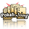 PokahJong - A cross between Poker and MahJong, the object of PokahJong is to create the best poker hand possible using the available tiles on the game board. Typical 'poker hands' add points to your score. The game ends when either you successfully clear 3 game boards or the time limit runs out.