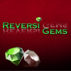 Reversi Gems - Each time you click a gem it will change its color and the color of the 4 (or less) gems around it.