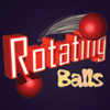 Rotating Balls - Drive these little rotating balls through some obstacles to reach the safe area.