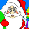 Santa Claus Coloring Game - Santa Claus is out for his gift tour! Color him anyhow you'd like then save your picture and send it with your Christmas greetings to your friends! Or print the picture and color it anyhow you desire!