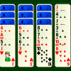 Scorpion Solitaire - In Scorpion, you must move cards on the table so you are left with four stacks from king to ace.  Face up cards can be moved regardless of the cards on top of them in the stack.