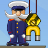 Ship Loader - Great casual physics game. Your task is to load containers of different weight into the hold of the ship using magnetic crane. If you stow the cargo incorrect the ship can lie over and captain will fall from the deck into the sea.