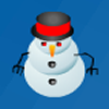 Snowman Match - Draw a line to connect and match the different colored snowmen!