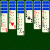 Spider Solitaire - Spider is a well known two pack patience game.  The aim is to build sequences from king to ace in suit on the tableau, and remove them to the foundations.  Cards can be stacked by rank, but only sequences in suit can be moved.  New cards can be dealt onto the ten piles from the stock when required.