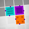 Sticky Blocks - Can you make it through all 50 levels?  Slide your purple sticky block through increasingly fiendish puzzles in this brain-bending game.  Other blocks stick to yours whether you want them to or not, so you'll have to plan your moves carefully or end up in the middle of a large, unmovable clump of blocks!  Deliver blocks to identically-colored locks to clear up space and pass through to the next level.  50 levels + 8 bonus levels + secret levels!