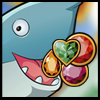 Summer Jewels - Match 3 or more JEWELS to clear them and help the shark to get a treasure!