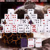 Tri-Peak Solitaire - Tri-Peak Solitaire - Click on the cards on the tableau that are one above or below the current card on the stock pile. Clear the tableau to complete the round.
