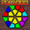 Trinhex - Spin and Swap coloured triangular pieces on a hexagonal board to make matches against the clock.