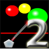 Triple Pop 2 - The sequel to Triple Pop. Use the mouse to shoot green balls into the play area. In Play Level mode the objective is to hit the yellow target. Try to complete the levels with the fewest shots. In Free Play mode you score points by hitting the balls three times and making them pop. Try and get the highest score.