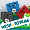 Wish Totems - Sink the blue totems, save the red totems! Click on objects to remove all but the red totems from each level in this cute physics game!