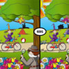 Witches and Spies - Two pictures are shown. Spot the seven differences. Be aware: time is running out. Excellent game for children age 3-7.
