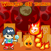 World On Fire - The world is invaded by fire creatures, and the only one able to stop them is you! Collect elemental powers by matching the tokens. Use your powers to defeat your enemies. 